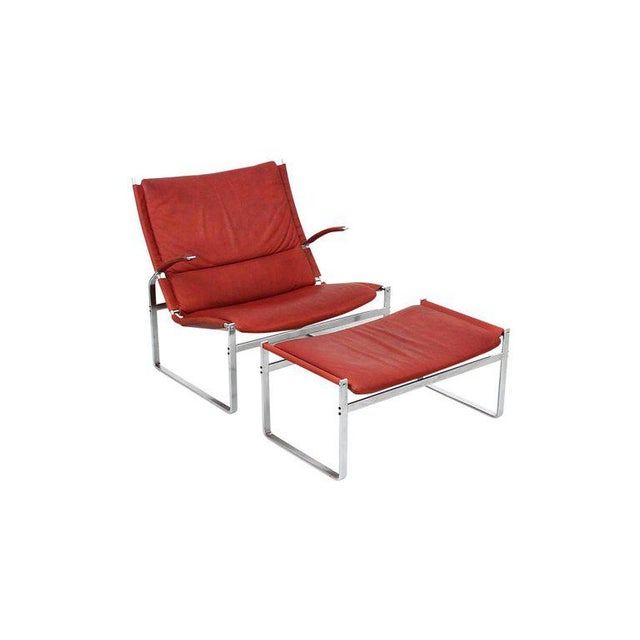 Mid-Century Modern Preben Fabricius and Jorgen Kastholm Lounge Chair and Ottoman For Sale - Image 3 of 11