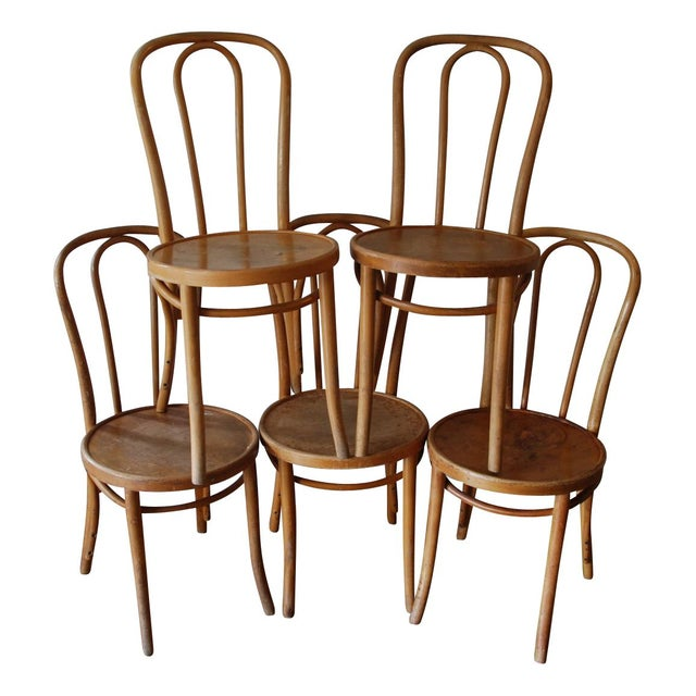 Thonet Cafe Chairs - Set of 5 For Sale