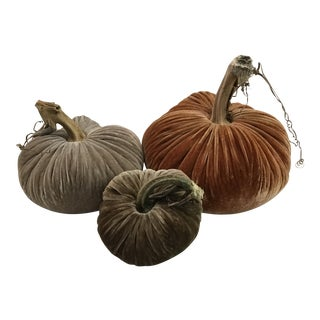 Plush Pumpkins Soft Fall Pumpkin Trio - Set of 3 For Sale