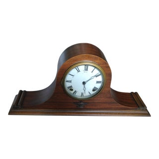 Ingraham Humpback Magic Duplex Wood & Mantle Clock