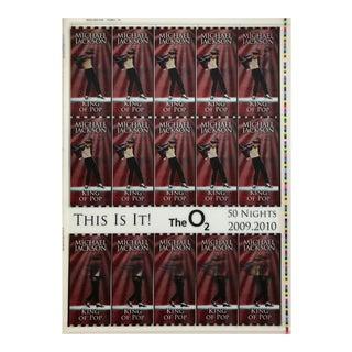 Michael Jackson This Is It! Uncut 2009 Lenticular Concert Ticket Sheet Form 7,7A Michael Jackson 2009 For Sale