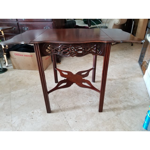 Last Call, Delisting, Baker Historic Charlestown Collection Chippendale Dropleaf Pembroke Tea Table For Sale In Miami - Image 6 of 7