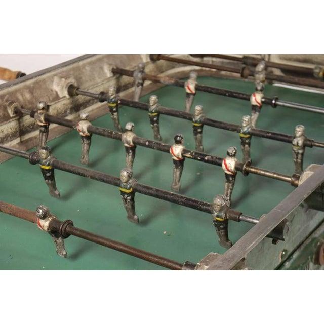 Industrial Vintage Cast Metal Foosball Table For Sale - Image 3 of 4
