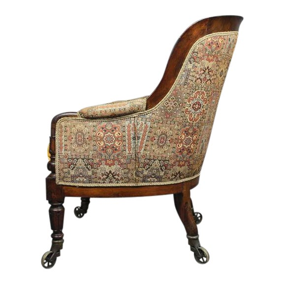 Grand William IV Rosewood Bergere Chair For Sale