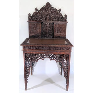 19th Century Antique Anglo-Indian Hand Carved Writing Table Preview