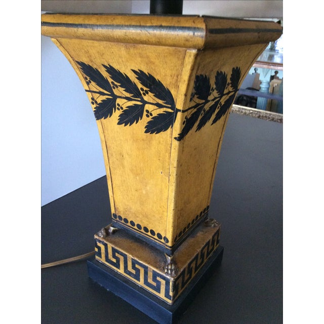 Antique French Tole Lamp with Shade - Image 3 of 3