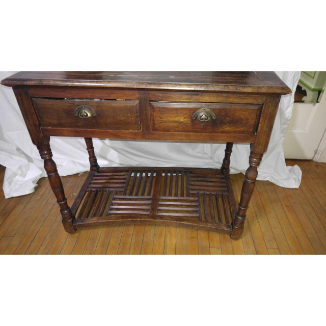 Vintage anglo colonial vanity, rosewood, beveled mirror (aging on edge. Two small drawers and two box drawers, beautiful...