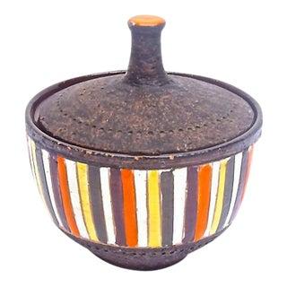 Mid-Century Modern Bitossi Striped Dish
