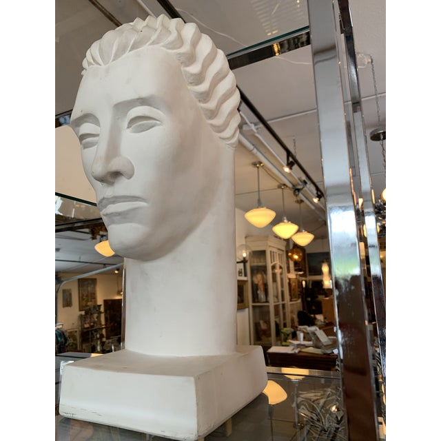 Fabulous large scale plaster bust in good condition. The piece was made in the 1980s.