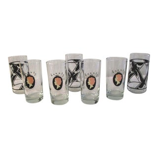 Classic Beauty Highball Glasses, Set of 7 For Sale