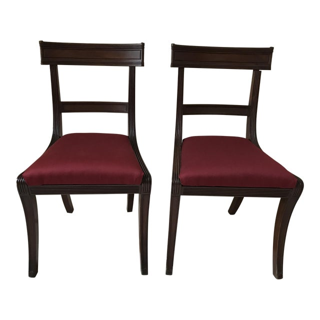 Mid 19th Century Antique New York Mahogany Side Chairs - a Pair For Sale