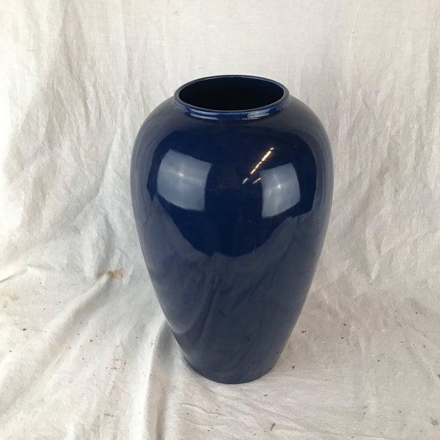 Blue Glazed Pottery Vase For Sale - Image 13 of 13