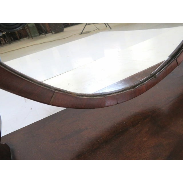 Traditional Antique Sheraton Mahogany Dressing Mirror For Sale - Image 3 of 6