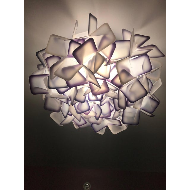 Abstract Modern Geometric Flush Mount Chandelier in Woven Resin Clusters by Slamp For Sale - Image 3 of 13