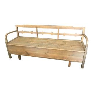 Rustic Swedish Farmhouse Kitchen Bench