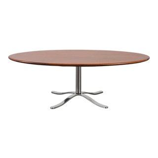 Dunbar Mid-Century Teak and Chrome Coffee Table