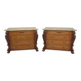1990s Baroque Style 4-Drawer Lion Head Chests - a Pair For Sale