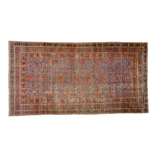 19th Century Traditional Brown and Purple Wool Khotan Rug
