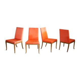 Dining Chairs by t.h. Robsjohn-Gibbings for Baker, S/4 For Sale