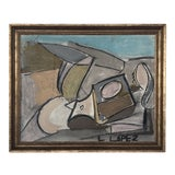Image of 1980s Framed Charcoal Abstract Drawing For Sale