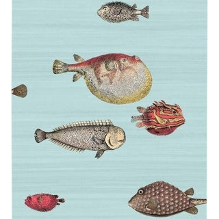 Cole & Son Acquario Wallpaper Roll - Pal Bl & Mlt For Sale