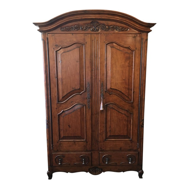 French Provincial Style Media Armoire Cabinet - Image 1 of 11