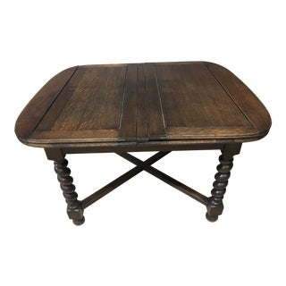 Vintage Barley Twist Dining Table For Sale