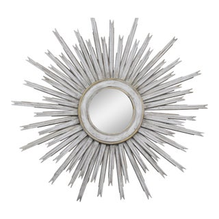 20th Century Vintage Gilt Wood Sunburst Mirror For Sale