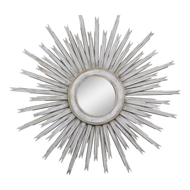 20th Century Vintage Gilt Wood Sunburst Mirror For Sale