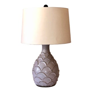 Roehampton Table Lamp With Off White Linen Shade by Currey & Company For Sale