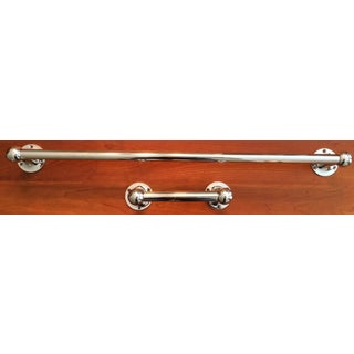Pottery Barn Chrome Towel Bar & Paper Holder - a Pair Preview