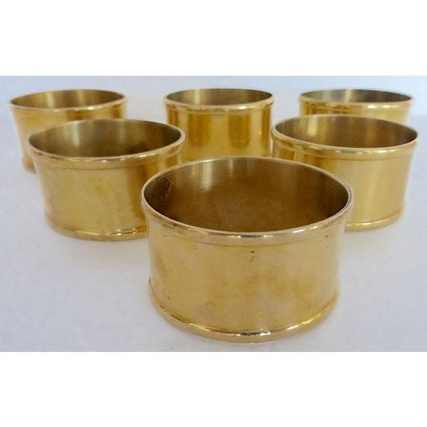 Brass Oval Napkin Rings - Set of 6 - Image 2 of 5
