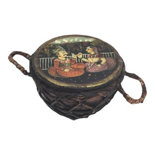 Indian Festive Court Scene Drum For Sale