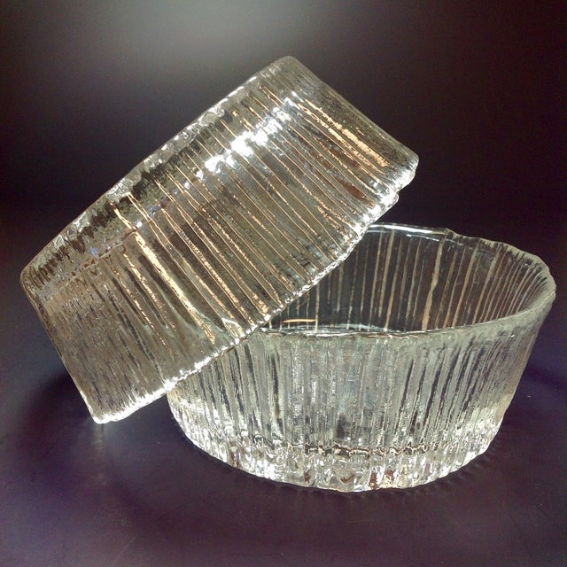 Danish Modern Ice Glass Bowls - A Pair - Image 4 of 5