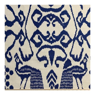 "Quadrille ""Bali Isla"" Fabric in Blue- 1 1/2 Yards For Sale"