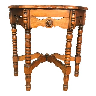 1940s Moroccan Wooden Side Table For Sale