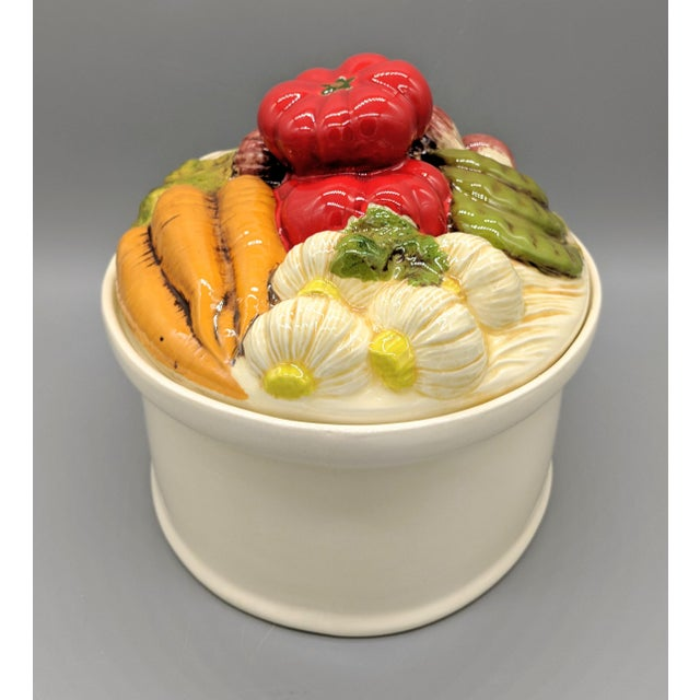 Late 20th Century Trompe l'Oeil Vegetable Casserole Serving Dish For Sale - Image 4 of 9