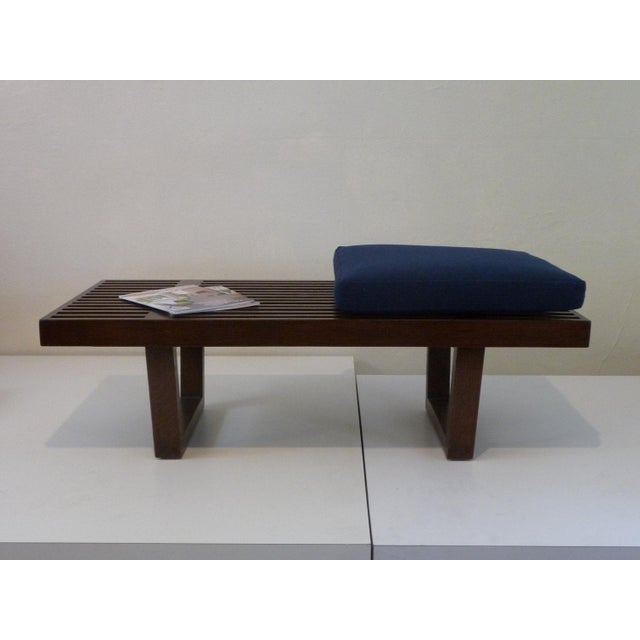 Asian Mid Century Platform Bench For Sale - Image 3 of 5
