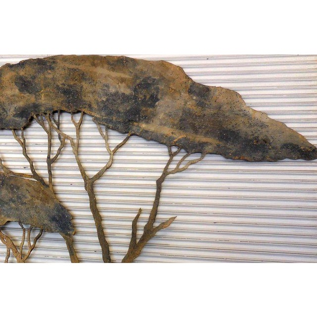 Early 20th Century 20th Century Theatre Scenery Trees Wall Sculpture For Sale - Image 5 of 11
