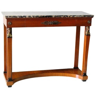 French Empire Style Marble-Top Pier Table For Sale