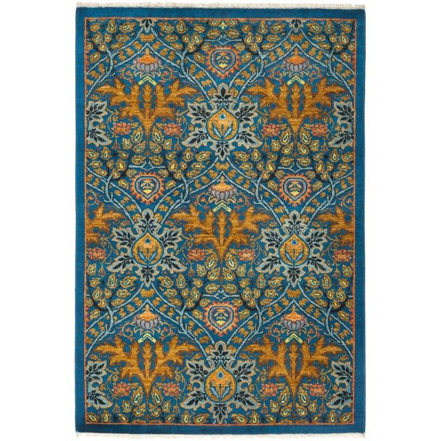 """Macau, Eclectic Area Rug - 4' 3"""" X 6' 1"""" For Sale"""