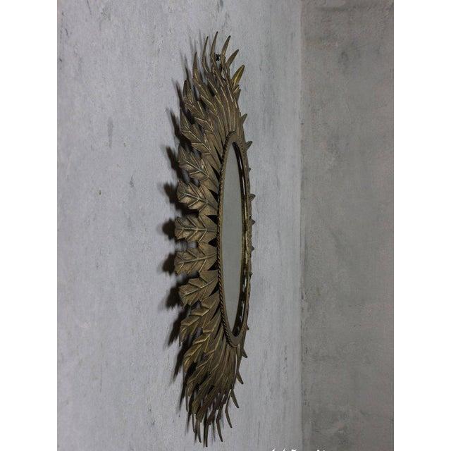 Gilt Metal Oval Sunburst Mirror - Image 5 of 9