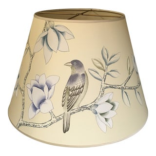 "De Gournay Askew in Satin Grey 18"" Lamp Shade For Sale"