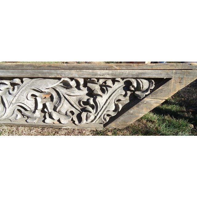 Acanthus Leaf Carved Wood Pediment - Image 4 of 11