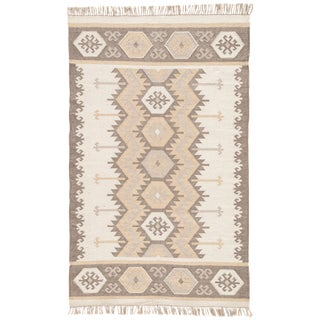 "Contemporary Jaipur Living Emmett Geometric Gray & Taupe Area Rug - 3'6"" X 5'6"" For Sale"