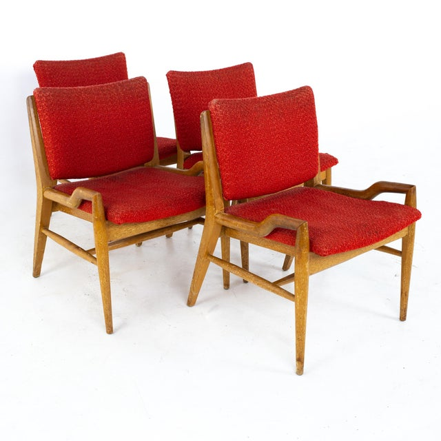 John Keal for Brown Saltman Mid Century Mahogany Dining Chairs - Set of 4 For Sale - Image 13 of 13