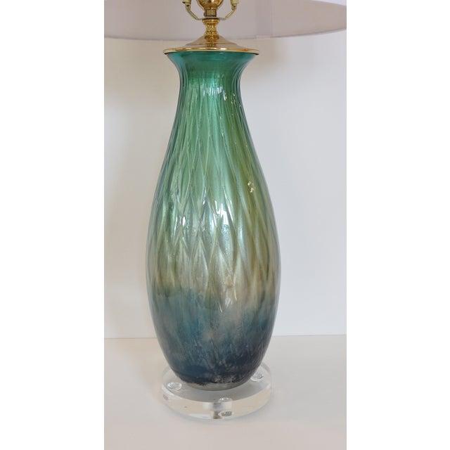 Tri-Color Mercury Glass Lamp - Image 3 of 6