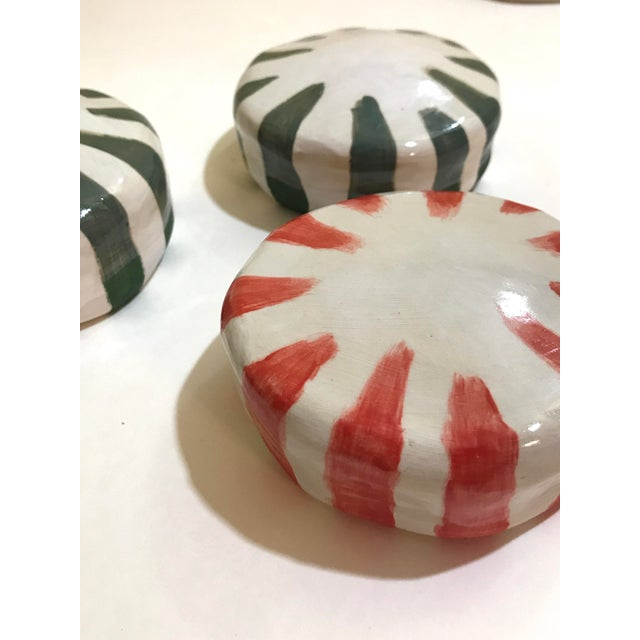 Contemporary Ceramic Wall Donuts - Set of 3 For Sale - Image 3 of 8