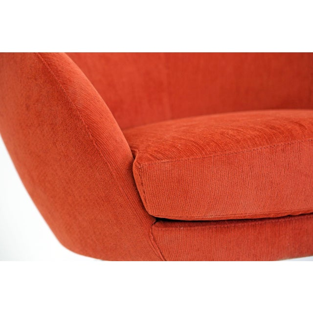 Brazilian Modern Mannes Curved Back Red Club Chair - Image 7 of 11