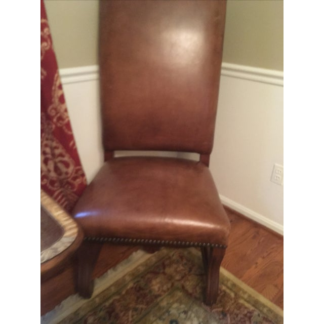 Ralph Lauren Leather Dining or Accent Chairs - S/2 - Image 6 of 8